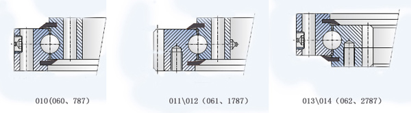 单排四点接触球式回转支承