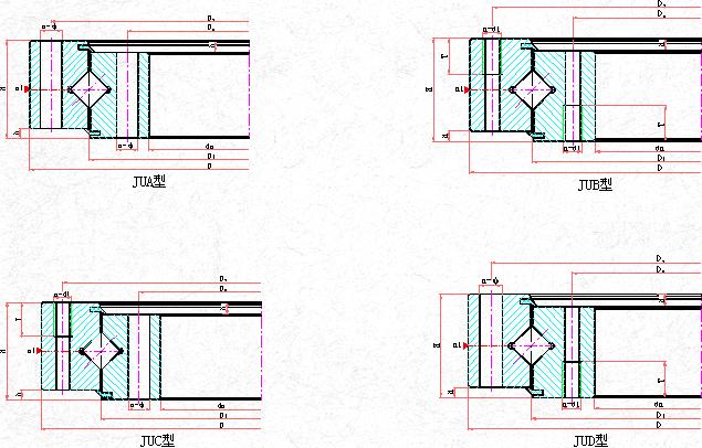 单排交叉滚柱(锥)式回转支承(J系列)